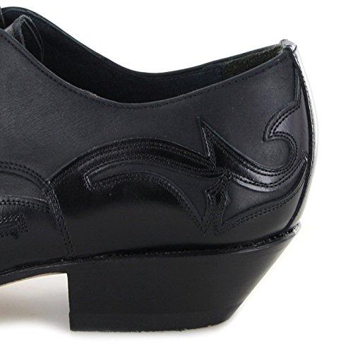 Sendra Boots Western Shoe 10066 Scarpa Stringata Nera