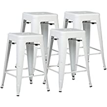 """Poly and Bark Trattoria 24"""" Counter Height Stool in White (Set of 4)"""