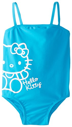 Hello Kitty Little Girls' Toddler Turquoise One Piece, Aqua, 4T