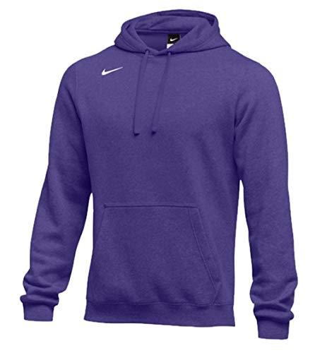 (Nike Men's Pullover Fleece Club Hoodie (X-Large, Purple))