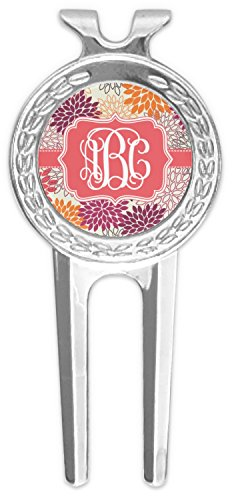 RNK Shops Mums Flower Golf Divot Tool & Ball Marker (Personalized) by RNK Shops
