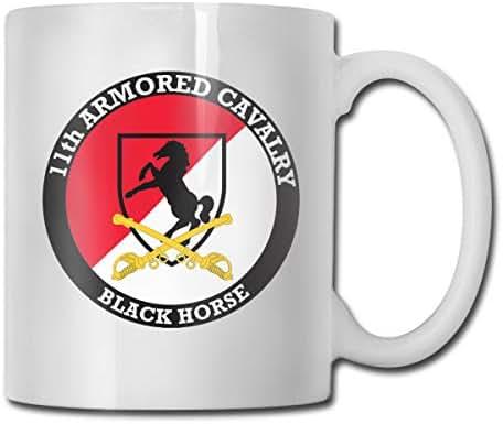 DSJRKSKEE 11th Cavalry Regiment Recruitment Funny Gift Mug White Tea Brewing Cups 11 Oz