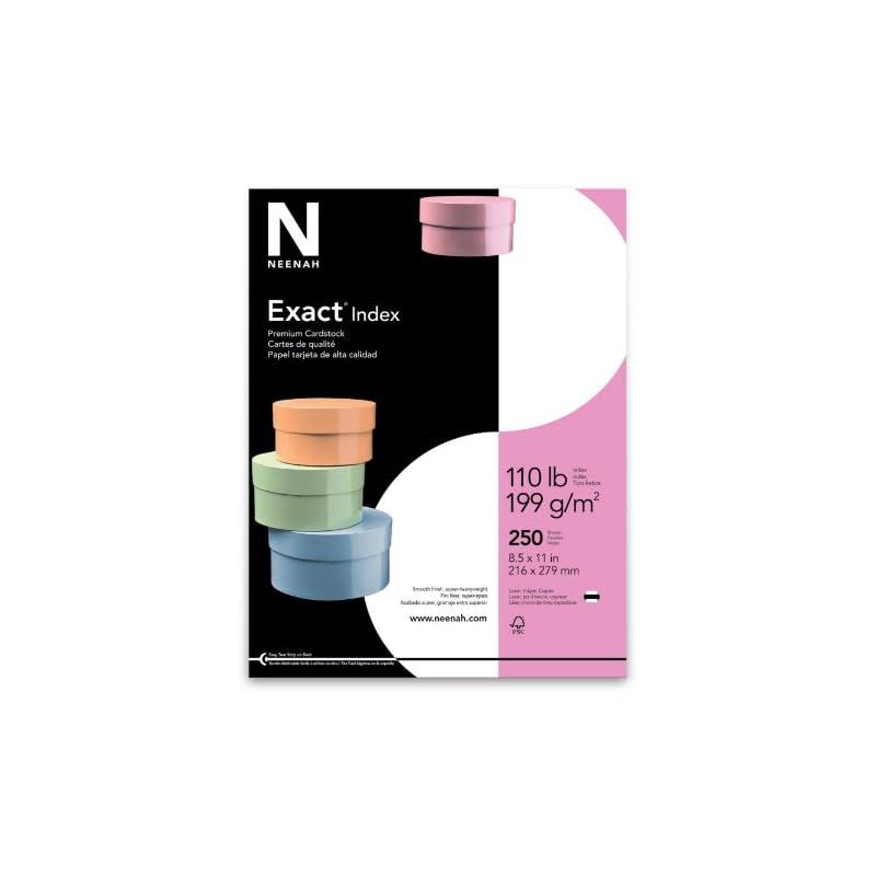 """Exact Index, 8.5"""" x 11"""", 110 lb/199gsm,"""