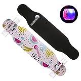 Flash Wheel Skateboard Male Girl Dancing Skateboard High Elastic PU Wheel Skateboard High Elastic Skateboard (Color : B)