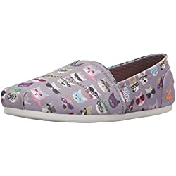 BOBS from Skechers Women's Bobs Plush - Kitty Flat, Gray Kitty , 8 M US
