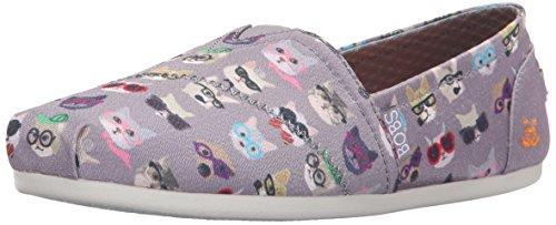 Multi Kitty BOBS Smarts Plush Women's Shoes Skechers Grey Z6wzqFn