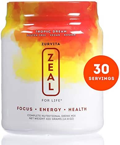 Zurvita- Zeal for Life- 30-Day Wellness Canister- Tropic Dream- 420 grams