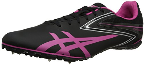 ASICS Women's Hyper Rocket Girl SP Running Shoe,Black/Raspberry/Silver,10 M US