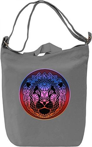 Graphic Lion Borsa Giornaliera Canvas Canvas Day Bag| 100% Premium Cotton Canvas| DTG Printing|