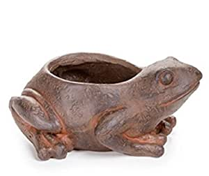 Darice Resin Planter Frog w/Plant