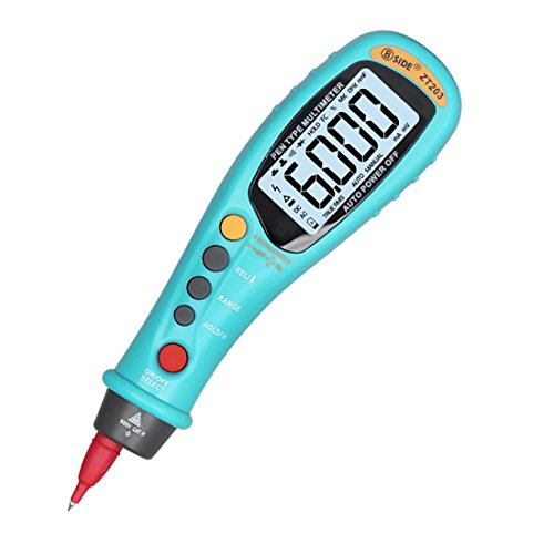 Akozon Pen Type Digital Multimeter PEAKMETER MS8211 Multimeter with Probe ACV//DC Current Voltage Resistance Diode Connectivity Handheld Tester Auto and Manual Ranging Data Hold 2000 Counts Backlight
