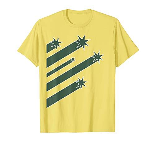 Australia Cricket (Green Star Throwback) T-Shirt (Australia T Cricket Shirts)