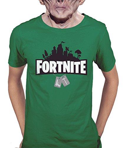 Acokaia Fortnite Camiseta Verde Para Hombre IfXxB3r
