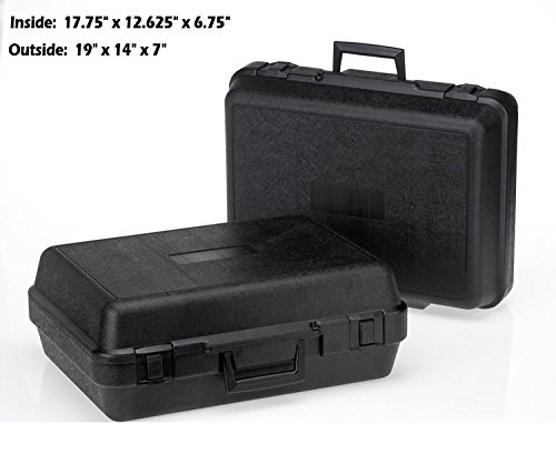 HUNSAKER USA: Universal Hard Case Tool Storage Case (Inside Dimensions: 17.75'' x 12.625'' x 6.75'' - Black)