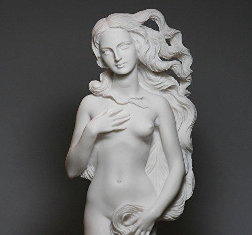 oddess Aphrodite Birth of Venus Rising Nude Female Cast Marble Statue Sculpture ()