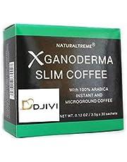 Dodjivi Ganoderma Reishi Mushroom Coffee - Detox 100% Arabica Black Premium Instant Coffee - 9 in 1 Medicinal Herbal Blend Mushroom Coffee Mix, Vegan Paleo Gluten Free Superfood Drink - (1 Box of 30 Bags)
