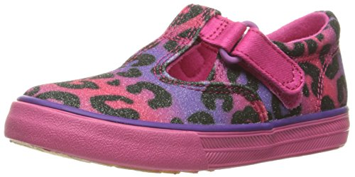 Keds Daphne T-Strap Sneaker (Toddler/Little Kid), Multi Leopard Sugar Dip, 5 M US (Keds Canvas Mary Janes)
