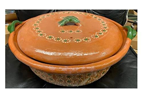 Made in Mexico Cazuela Raya Verde Bowl 16