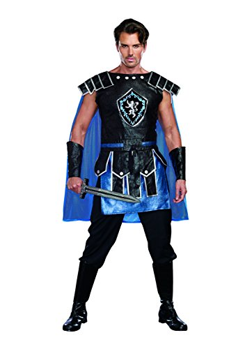 King Slayer Costume (Dreamguy by DG Brands Men's Warrior Costume, King Slayer Male, Blue, Large)