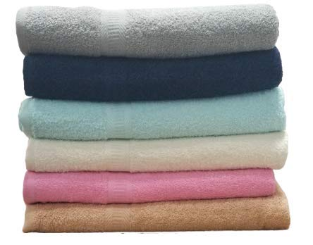 ECO Towels 6-Pack Bath Towels – Extra-Absorbent – 100% Cotton – 27″ x 54″ – Towels for Bathroom – Extra Large Bath Towel