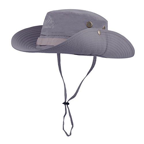 Vadventure Mens Outdoor Waterproof Fishing Hat Wide Brim UV Protection Summer Safari Boonie Hats Sun Cap for Hunting Hiking and Camping