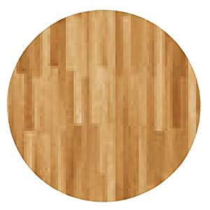 alfombrilla de ratón parquet de madera - ronda - 20cm