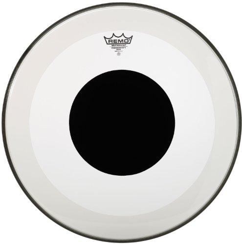 Remo P31322-10 Clear Powerstroke 3 Bass Drum Head - 22-Inch - Black Dot - Remo Powerstroke 3 Black Resonant