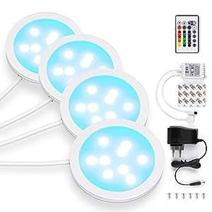 Amazon albrillo led under cabinet lighting plug in dimmable albrillo led under cabinet lighting plug in dimmable led puck lights with remote 16 mozeypictures Choice Image