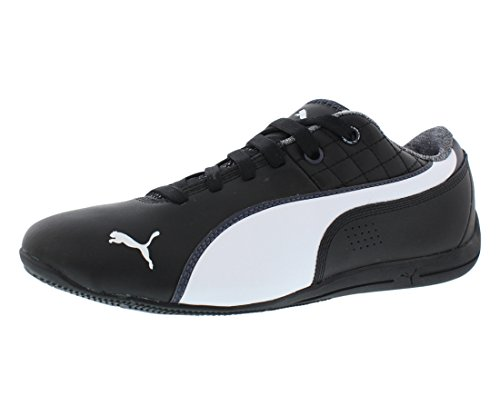 Puma Racing Shoes - PUMA Men's Drift Cat 6 NM Lace-Up Fashion Sneaker, Black/White, 10.5 M US