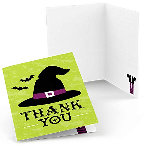 Happy Halloween - Witch Party Thank You Cards (8 Count) -