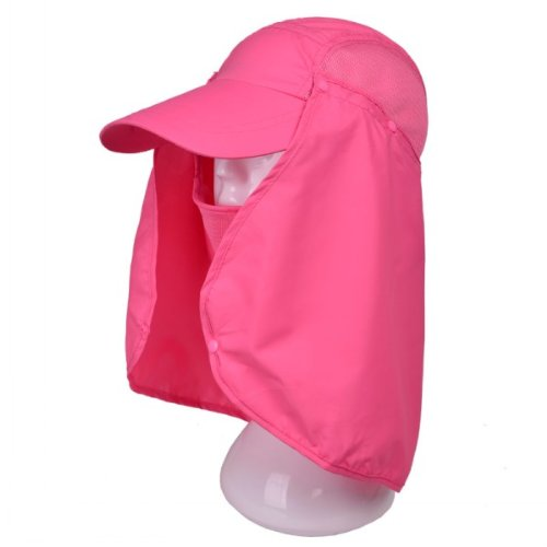 3d11cdf903487 Rose Summer Womens Mens Sun Protection Windproof Fishing Cap Neck Face Mask  Flap Hat - Buy Online in UAE.