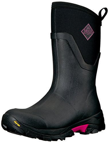Muck Boot Women's Arctic Ice Mid Work Boot, Black/Pink, 10 M US by Muck Boot
