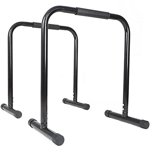 Titan Fitness Black Dip Station Leg Raise Bars Body Weight Parallettes Crossfit by Titan Fitness