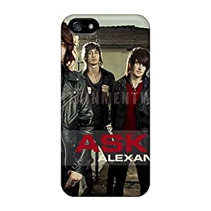 Iphone 5/5s BdK11889pCnW Unique Design Trendy Asking Alexandria Band Pictures Protective Cell-phone Hard Cover -EricHowe