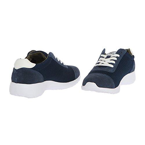AVIREX Donna Sneakers da sportiva Blu stringata scarpa 161W81975 HARLIN Navy Ghiaccio rprZxnAfEq