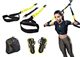 Active Athletic Basics Suspension Trainer Resistance Straps Kit - Full Body Workout Straps with Travel Bag & Exercise Guide