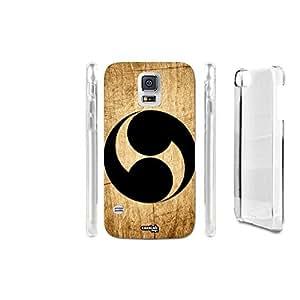 FUNDA CARCASA EFECTO MADERA YIN YANG BLACK TWICE PARA SAMSUNG GALAXY S5 G900D LTE DUAL