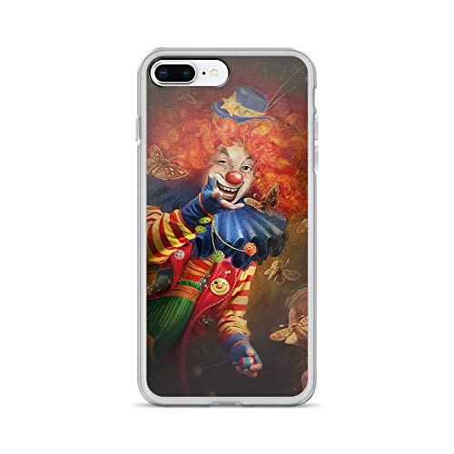 iPhone 7 Plus/8 Plus Pure Clear Case Cases Cover Clown Art Smile Makeup Circus Emotions -