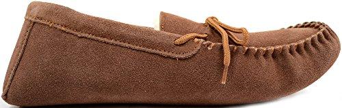 Snugrugs Herren Alfie, Wool Lined Moccasin Slippers Sneaker Brown (Light Brown)