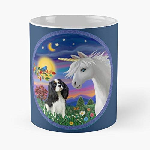Cavalier King Charles Spaniel Tri Color Art Funny Christmas Day Mug Gifts Ideas For Mom - Great Ceramic Coffee Tea Cup