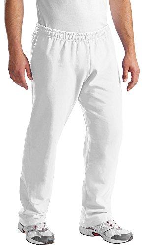 Port & Company Mens Classic Sweatpant, White, - Sweatpants & Company Drawstring Port