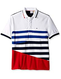 696baba6 Tommy Hilfiger Men's Adaptive Polo Shirt with Magnetic Buttons Custom Fit