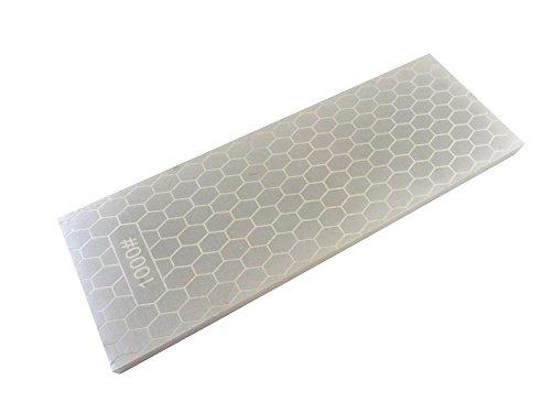 "Taytools 107214 8"" x 3"" 400/1000 Grit Diamond Sharpening Stone/Plate 5/16"" Thick Plated Steel (Grit Diamond Hone)"