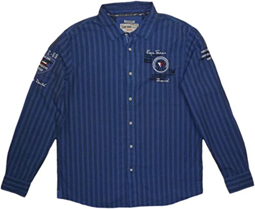 CAMP DAVID HEMD PATAGONIA II CD STRIPES REGULAR BLUE TRAIL L