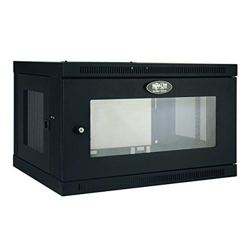 Tripp Lite 6U Wall Mount Rack Enclosure Server Cabinet with Acrylic Glass Window, 16.5