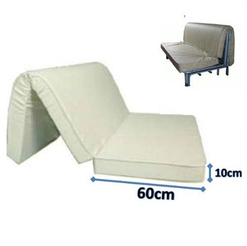 materasso per divano letto 160x190 prontoletto con piega su seduta ... - Materasso X Divano Letto Matrimoniale