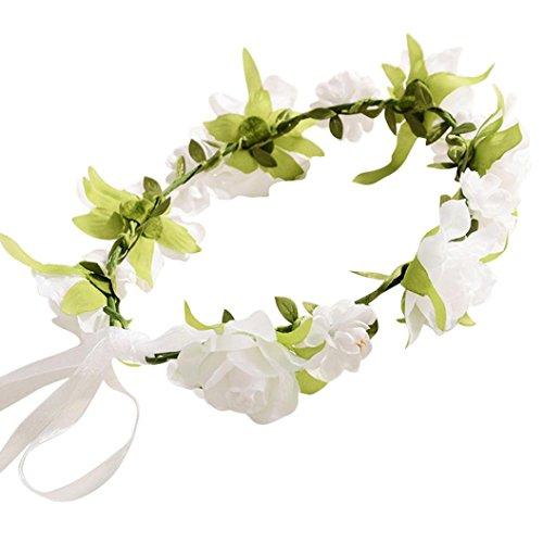 kingko® Rosenband Kinderkränze Weiß