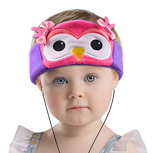 Contixo H1 Kids Soft Warm & Cozy Fleece Headphones Earphones Earbuds | Wired, 85dB Volume Limiting Animal Character Design (OWL)