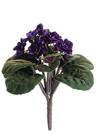 Amazon silk flowers african violet bush in purple 105 tall silk flowers african violet bush in purple 105quot mightylinksfo