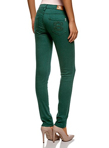 6900n oodji Skinny Jean Ultra Vert Femme qnfS7xg